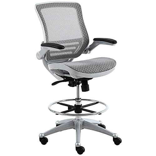 Harwick Evolve All Mesh Heavy Duty Drafting Chair - Platinum Finish