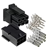 Molex Micro-Fit 3.0 dual row (6 Circuits) Male & Female receptacle plug, w/Terminal sockets, ( Pack of 3 Complete Set)