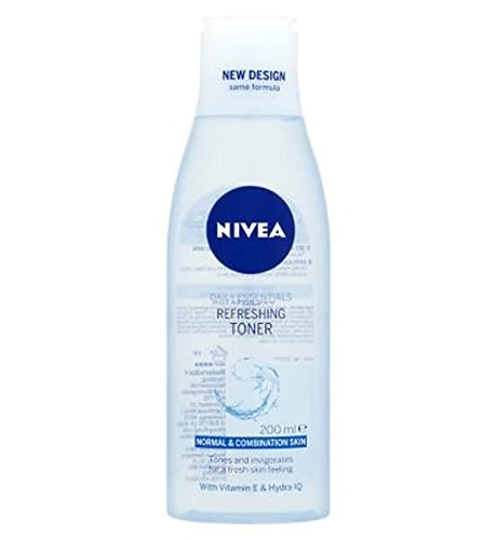 カートリッジすなわち未接続Nivea Daily Essentials Refreshing Toner 200ml - トナー200ミリリットルをリフレッシュニベア生活必需品 (Nivea) [並行輸入品]