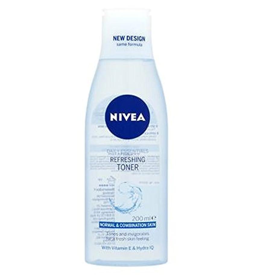 逸話サンダル努力Nivea Daily Essentials Refreshing Toner 200ml - トナー200ミリリットルをリフレッシュニベア生活必需品 (Nivea) [並行輸入品]