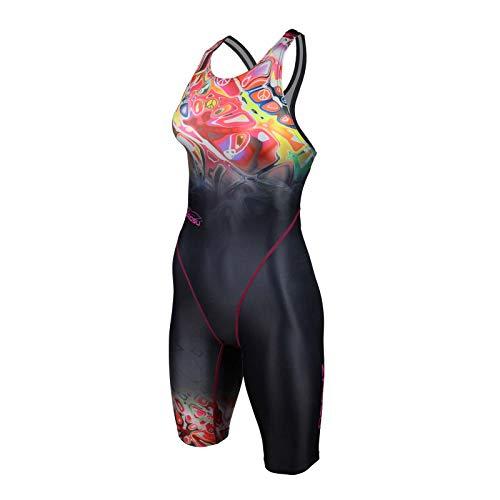 ZAOSU Damen & Mädchen Wettkampf-Schwimmanzug Z-Peace | Sport Badeanzug mit Bein, Größe:42