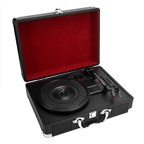 Salaty Tocadiscos Retro, Tocadiscos, Tocadiscos de Vinilo portátil de Estilo Retro, Tarjeta de Memoria USB/Tocadiscos MMC 33/45/78 para el(European regulations)