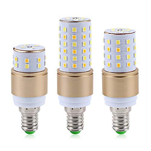 LED Lamp E27 E14 LED Bulb Light 3W 5W 7W LED Corn Light Bulb 220V 110V 3 Emitting Color Temperature Integrated SMD2835 Bombillas 6pcs,E27,3W