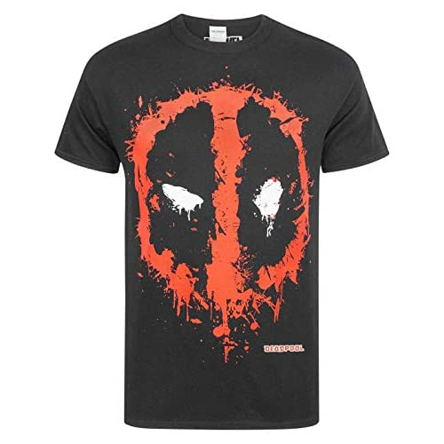 Marvel Deadpool Splat Logo Men's T-Shirt (Large)