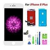 Compatible with iPhone 8 Plus Screen Replacement White, FFtopu LCD Display & Touch Screen Digitizer Frame Assembly Set with 3D Touch Free Repair Tool(5.5''