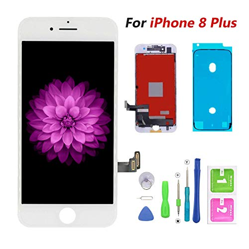 Compatible with iPhone 8 Plus Screen Replacement White, FFtopu LCD Display & Touch Screen Digitizer Frame Assembly Set with 3D Touch Free Repair Tool?5.5