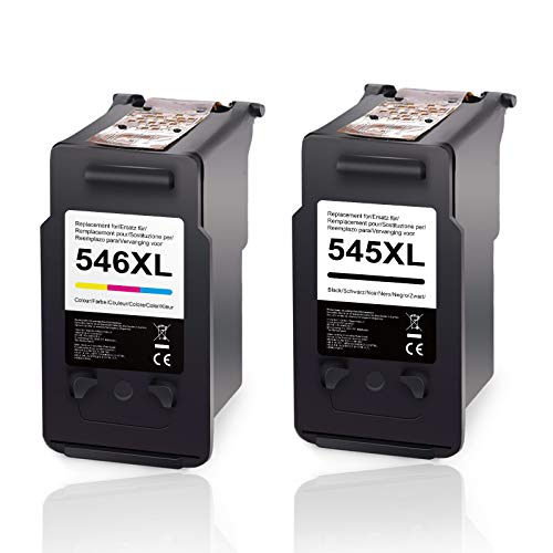 KNOWINK compatibile con stampante Canon PG-545XL CL-546XL Para Impresora Canon PIXMA TS3150 MG2550S MG2550 TS3151 TS205 MX495 MG2450 MG2950 MG3050 MG3051 MG3053 TS305 (nero/colore)
