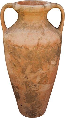 Biscottini Amphore Romaine vieillie, en Terre Cuite Toscane L70xPR55xH120 cm