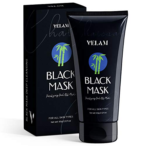Blackhead Remover Mask, Charcoal Black Mask, Peel Off Blackhead Mask, Deep Cleansing Facial Mask for Face Nose, 60g