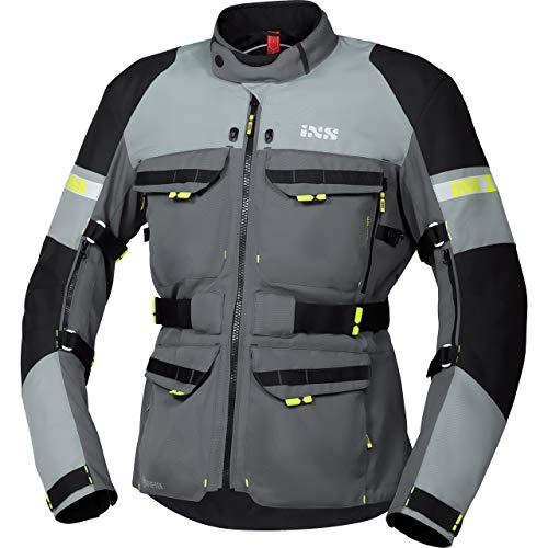 IXS Motorradjacke mit Protektoren Motorrad Jacke Adventure GTX Tour Textiljacke grau/Silber/schwarz XXL, Herren, Tourer, Ganzjährig, Polyester