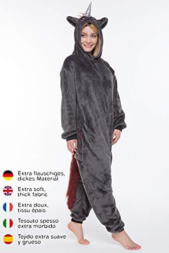 corimori- Kigurumi Disfraz (10+ Modelos) Halloween Adultos Ruby El Unicornio Punk, Color negro, rosa, Talla 160-170 cm…