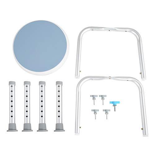 Taburete de ducha de ajustable, asiento de ducha redondo giratorio de 360 ° Silla de baño para ancianos Antideslizante Marco de aluminio de seguridad Taburetes de baño Soporte seguro
