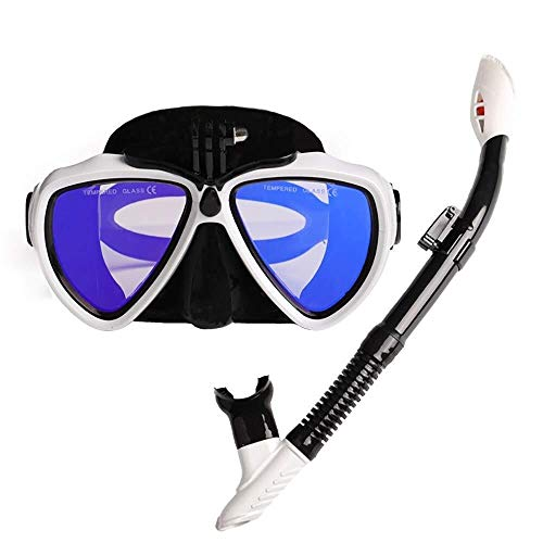 ZHUYUE Comfortabel Duikmasker Duikmasker Volwassen Jeugd Gratis Duikmasker Scuba Duikbril Geschikt Full Face Snorkel Masker (Kleur: Multi-2, Maat : L)