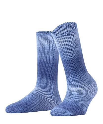 FALKE Damen Socken Tonal Paring, Wollmischung, 1 Paar, Blau (Ocean 6091), Größe: 35-38