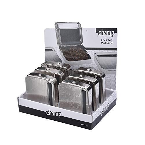 CHAMP - Zigarettenrollbox - Tabakrollmaschine - Metall - Schwarz