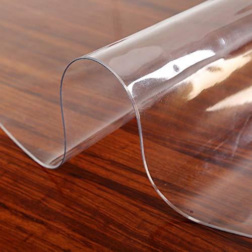 Nappe anti-brûlure transparente/couvre-nappe ronde, Essuyage/enroulement, épaisseur 2.0mm, bureau | maison | cuisine | restaurant | comptoir de mariage AA~ (Couleur : F, Size : Diameter-120cm)