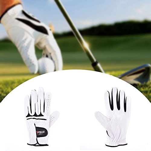 Best Price staywithu-美国 Men's PGM Authentic Golf Gloves Breathable Leather Sheepskin Left Right ...