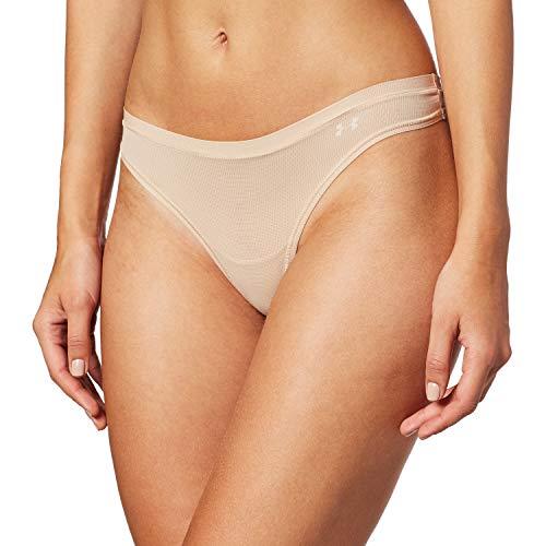 Under Armour Damen Sportswear Unterhose Pure Stretch Sheer Thong, Nude, S, 1276494