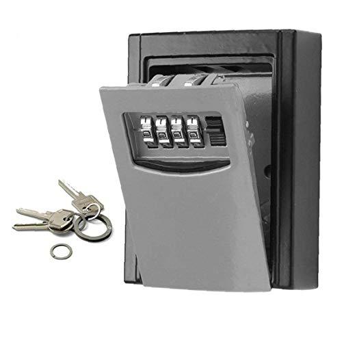 Key Lock Box Wand befestigte Legierung Schlüssel Safe Wetter 4-stellige Kombination Key Storage-Verriegelungs-Kasten Innen Außen
