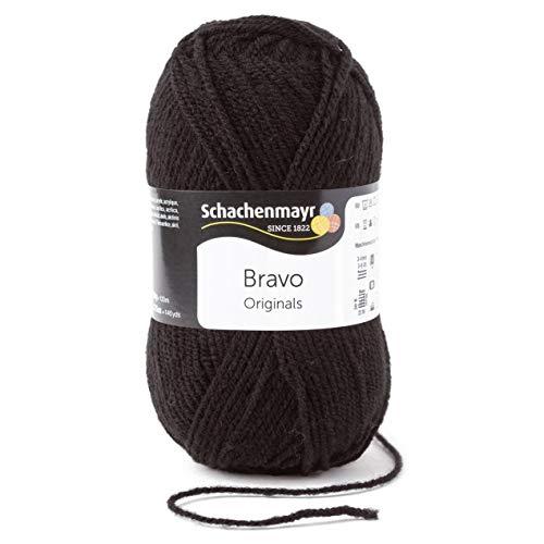 Schachenmayr Bravo 9801211-08226 schwarz Handstrickgarn, Häkelgarn