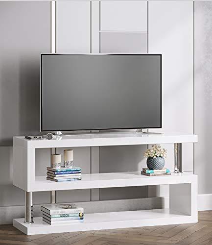 Manchester Furniture Supplies Miami High Gloss Contemporary Designer TV Stand & Media Unit (White)