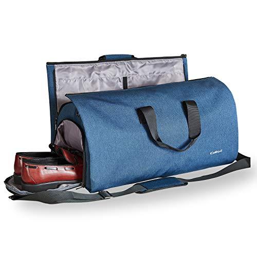 Colisal Portatrajes Hombre 60L Bolsa Viaje Plegable, Bolsa Traje con Compartimentos para...