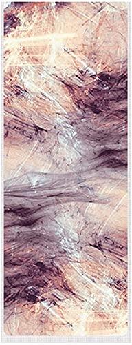 Alfombra de Yoga Estampado de Goma Natural Anti Deslizamiento Plegable Alfombrilla de Ejercicio Plegable para Fitness Pilates Gimnástico Travel Mat (Color : Pink)