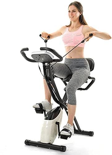 X-Bike Magnetic Fitness Fitness Bike Ciclismo Ejercicio para Entrenamiento Cardiovascular Ciclismo en Interiores con computadoras Traninal y Cintas de expansión Rojo-Blancas