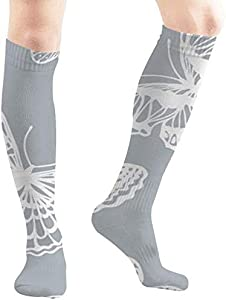 Felsiago - Calcetines de mariposa para hombre y mujer, diseño de animales abstractos, para deportes, viajes, fiestas, etc.