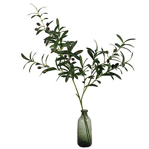 Amorar Künstlicher Olivenzweig, Künstliche Dekorative Blumen Simulation Olivenzweig Blumenstrauß Olive Blumengesteck Künstliches Blumenzubehör 103cm Künstliche Pflanzen Blumenarrangements