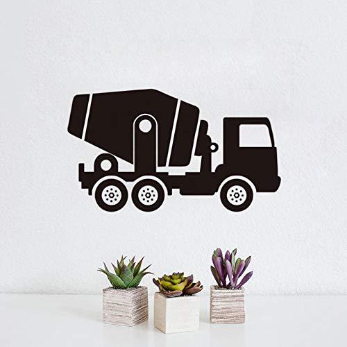 Mixer Truck Vinyl muursticker stuurdecoratie waterdicht voertuig muurtattoos voor kinderkamer decoratie kunst wandafbeeldingen 59 cm X 34 cm