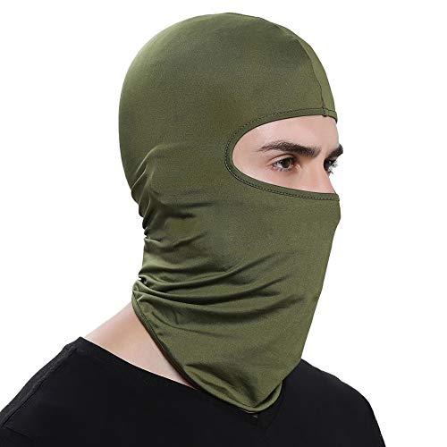 Muzi - Pasamontañas para la cara, a prueba de polvo, protector solar, protección para el cuello, turbante, bufanda para mujeres y hombres para montar al aire libre