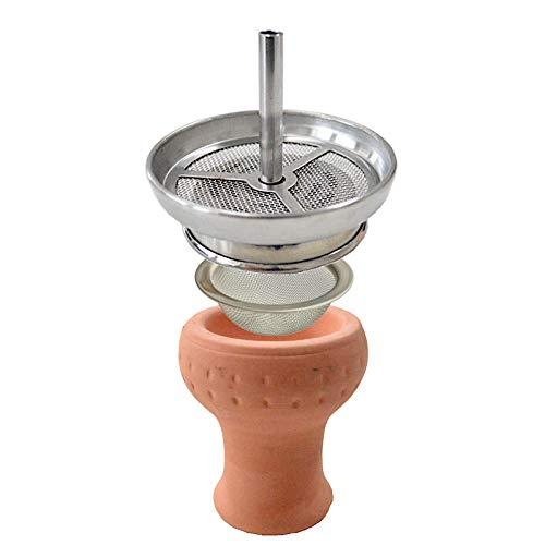 Aladin Shisha Kaminkopf-Set Mockingbird mit Tabaksieb, Tabakkopf, Tabaktopf mit Kamin für Wasserpfeifen