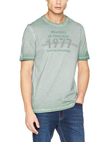 camel active Men's T Shirt 12 Reverse CP, Grün (Linden Green 70), Large