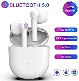 Auricolari Bluetooth Cuffia Bluetooth 5.0 Auricolari Wireless Cuffie Sportive IPX7 Impermeabili Riduzione del Rumore Stereo 3D HD Insonorizzato adatte per Apple AirPods/Android/iPhone Cuffie In Ear