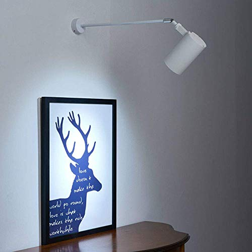 GYPPG Lámpara de Pared Moderna para Pasillo, lámpara de Pared LED de Brazo Largo con Brazo de lámpara retráctil de Pantalla de Metal, Aplique Creativo de Pared de cabecera para Sala de Estar, pasi