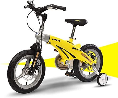TQJ Cochecito de Bebe Ligero Bicicleta for niños Conveniente, 12/14 Pulgadas de aleación de magnesio retrollador de bebé niño Modelos de Macho y Hembra Modelos de Bicicleta cómodos