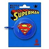 Logoshirt - Timbre Bicicleta Retro Superman - DC Comics - Superman Logotipo - Azul - Diseño Original con Licencia