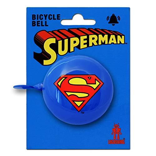 Logoshirt DC Comics - Superheld - Superman Logo Retro Fahrradklingel aus massivem Stahl - blau