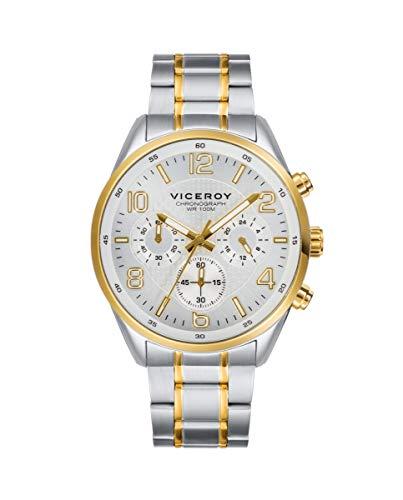VICEROY - Crono Acero IP Dorado Brazalete Sr Va - 401017-05