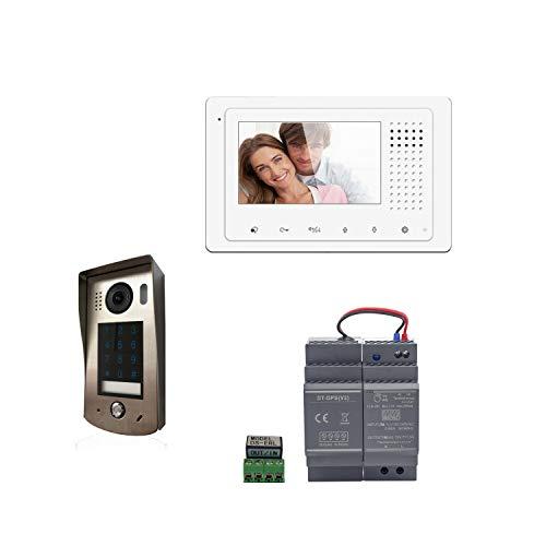 Digitone by Gates DIGI43C - Kit de videoportero con Monitor de Color (4,3 Pulgadas, cámara de ángulo de 105 ° y Teclado de código), Color Plateado