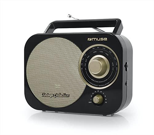 Muse M-055 RB Radio portable Analogique Noir, Or - Radios portables (Portable, Analogique, FM,MW, 88 - 108 MHz, Noir, Or, Uniforme)