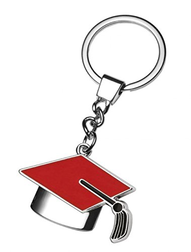 Ten Llavero Rojo y Negro de la graduación cod.EL5691 cm...