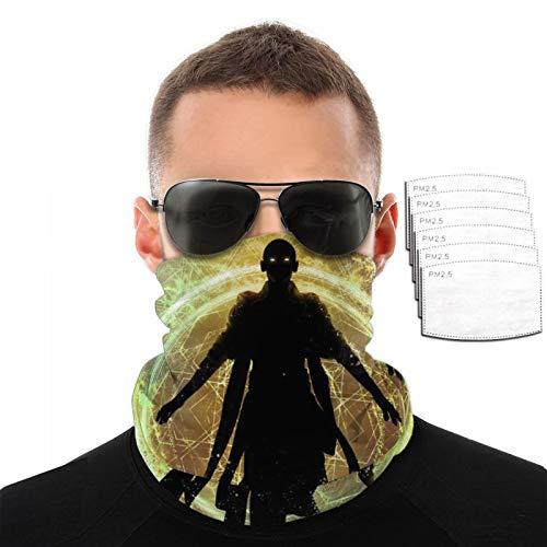 VOROY Avenger-Hechicero Supreme Hood con 6 filtros para protección facial de esquí, cubierta facial amarilla para esquiadores de 9.8 x 19.7 cm