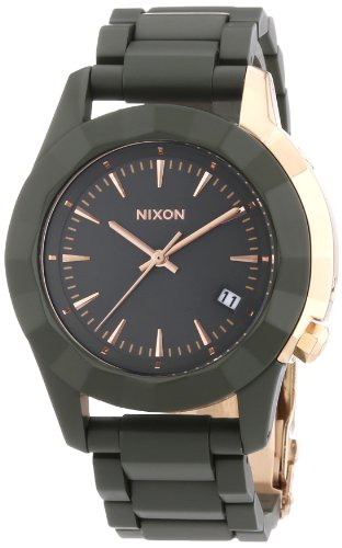 Nixon Damen-Armbanduhr Monarch All Surplus/Ros Gd Analog Quarz Edelstahl beschichtet A2881419-00
