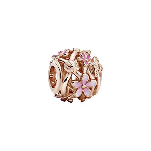 Pandora Abalorio de margarita rosa abierto.