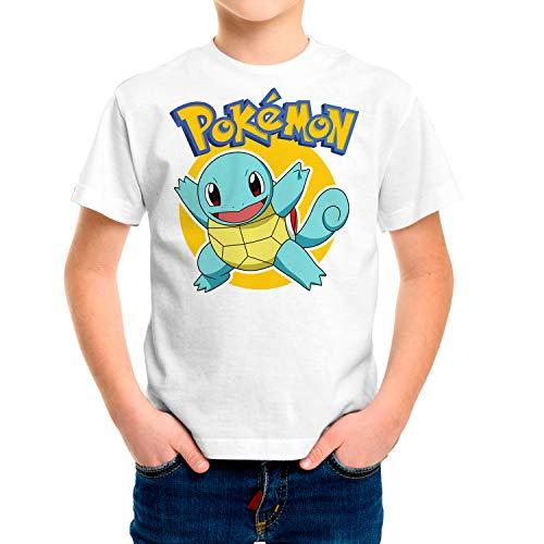 Camiseta Niño Pokemon, Squirtle (Blanco, 5 años)