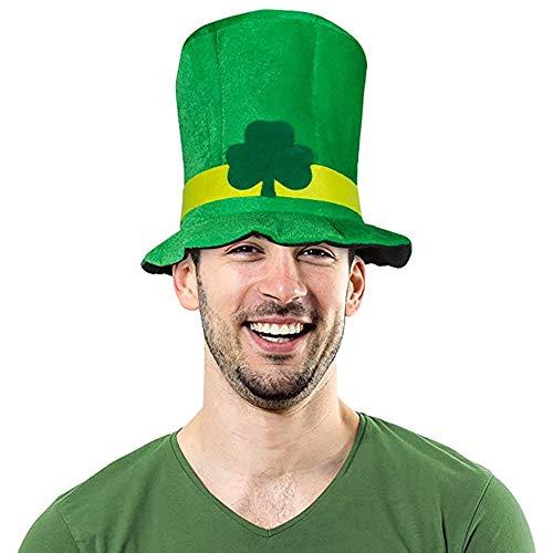 Shujin St Patrick's Day irischer Kleeblatt Hut Süß St Patrick Tageshut Iren Kleeblatt Hut Irland St. Patrick Abendkleid Kostüm Zusatz für Partei Dekoration