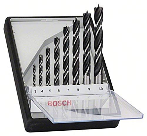 Bosch Professional 2607010533 8-Piece Robust Line Brad Point Drill Bit Set (for Wood, Accessories for Drill Drivers)