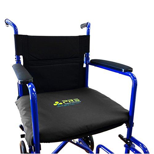 PURAP Wheelchair, Lift Chair & Scooter Cushion - Prevent & Heal Pressure Sores - Low Pressure Fluid 3D Flotation Technology - 18 x 20 x 1.5 inches - Black